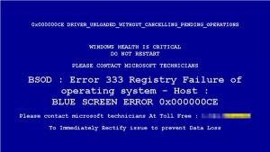 registry failure